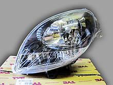 Фара ліва Рено Канго 1 чорна білий поворот 03-08 TYC