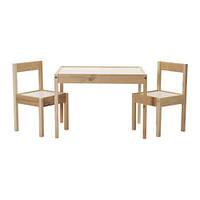 "IKEA ""ЛАТТ"" детский стол, 2 стула"