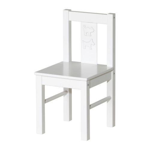 КРИТТЕР Детский стул, белый
