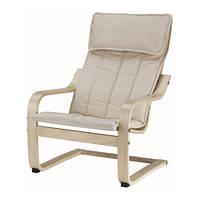 """IKEA """"ПОЭНГ"""" Кресло детское, березовый шпон, Алмос неокрашенный"""