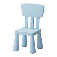 """IKEA """"МАММУТ"""" Детский стул, голубой"""