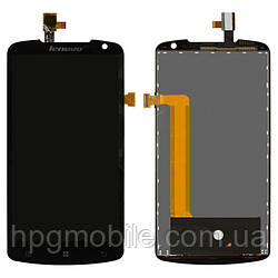 Дисплей для Lenovo S920, модуль в сборе (экран и сенсор), черный, оригинал
