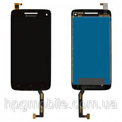 Дисплей для Lenovo Vibe X S960, модуль в сборе (экран и сенсор), черный, оригинал