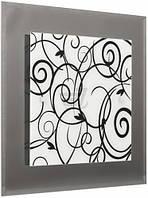 Светильник настенно-потолочный Декора Грация 2x60 Вт E27 бело-черный 40910 T30804566