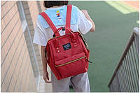 Модная каркасная сумка рюкзак холст красный
