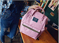 Модная каркасная сумка рюкзак холст розовый
