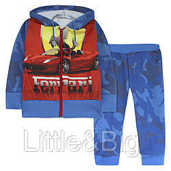 Спортивный костюм для мальчика, синий. Феррари.
