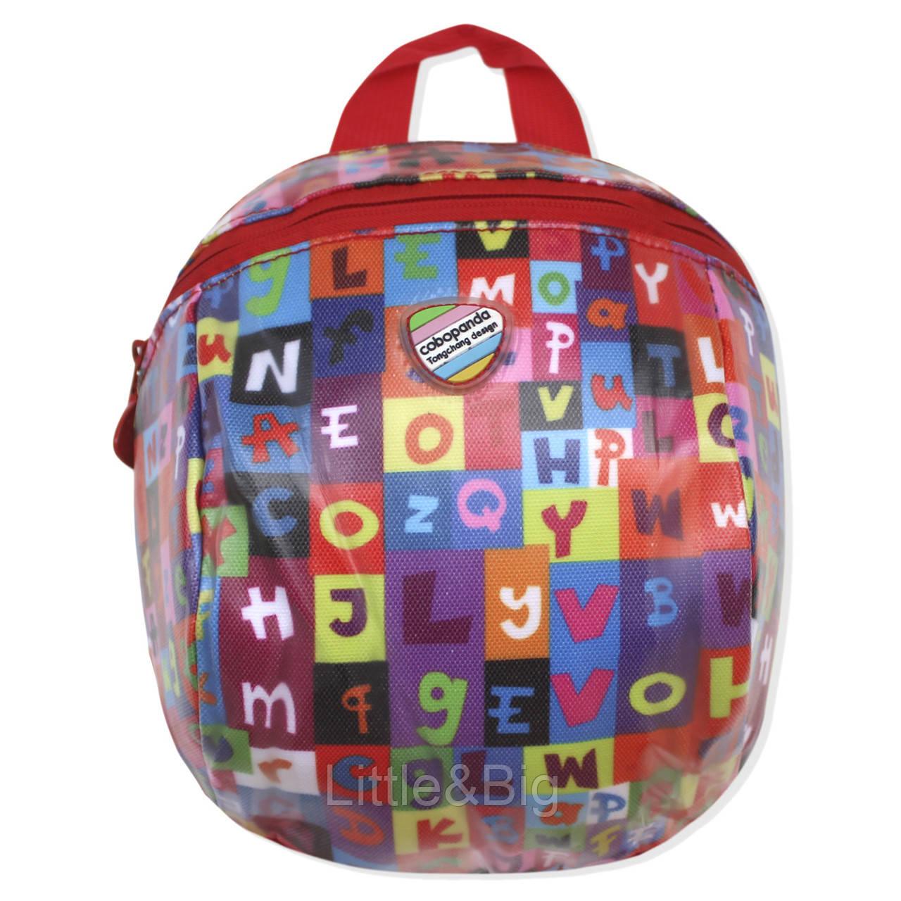 """Детский рюкзак """"Буквы"""", красный"""