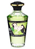 Съедобное согревающее масло Warming Oil Intimate Kisses, 100 мл, малина