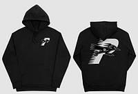 Худи Palace ROADRUNNER HOOD черное с логотипом, универсальное(мужское, женское, детское)