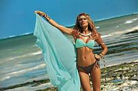 Раздельный купальник яркие цвета бразилиана бирюзовый