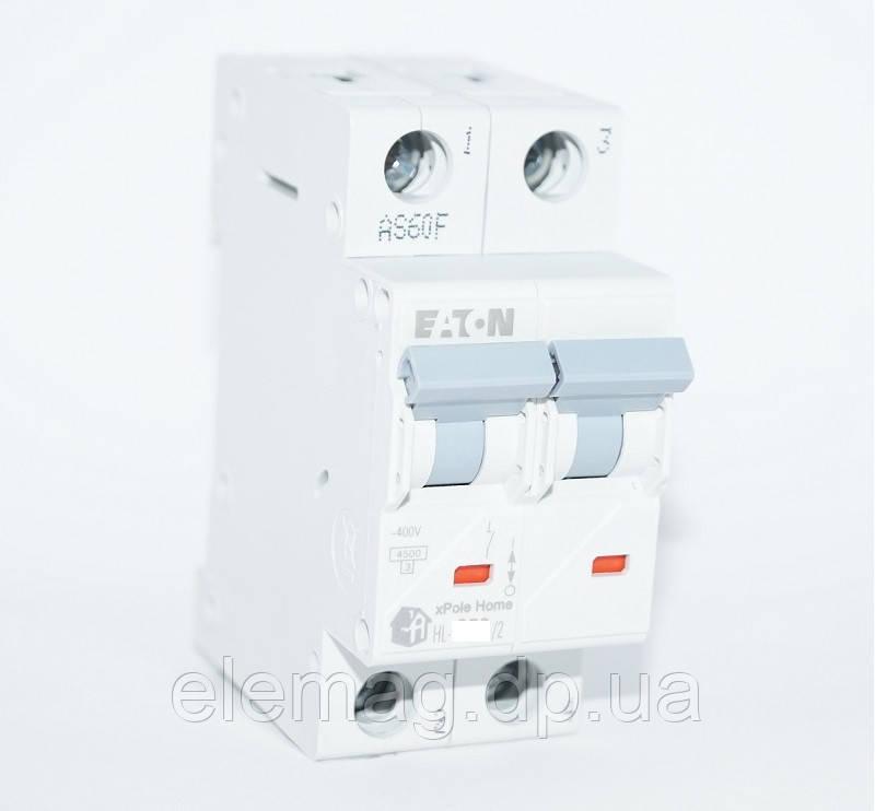 Автоматический выключатель 20А тип C 2 полюса HL-C20/2 Eaton 194772