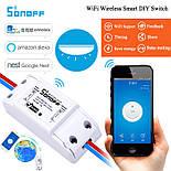 Беспроводное Wifi реле Sonoff Basic (умный дом, Wifi выключатель, Wifi розетка), фото 5
