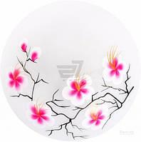 Светильник настенно-потолочный Укрсвітло НПБ Сакура розовая 25 см 1x60 Вт E27 белый 12078 T30887039