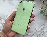 Чехол накладка на iPhone 7 / 8 Glass Silicone Case Logo  Mint Gum (Зеленый)