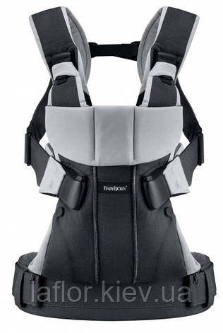Рюкзак-кенгуру BabyBjorn One Black/silver, cotton, фото 2