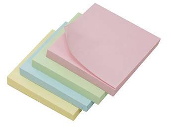 Бумага с липким слоем 75*75мм зелен., 100л L1201-08