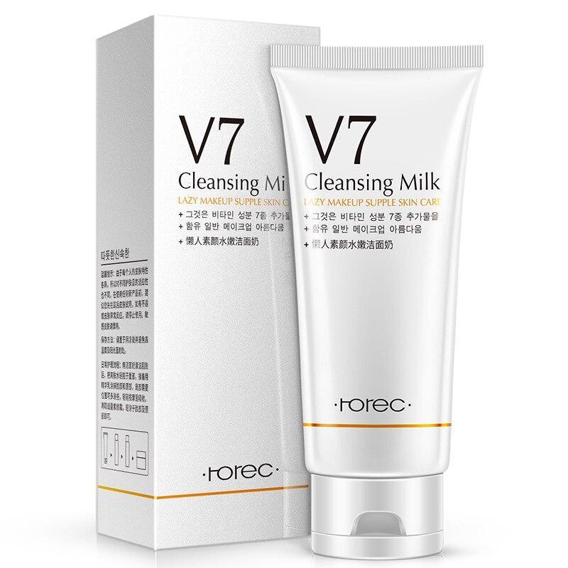 Молочко для умывания с витаминным комплексом ROREC V7 Cleansing Milk