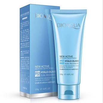 Пенка для умывания с олигомером гиалуроновой кислоты BIOAQUA New Active Hyalo-Oligo Cleanser