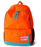 Яркий рюкзак VANS молодежный стиль оранж