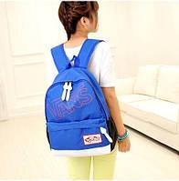 Яркий рюкзак VANS молодежный стиль синий