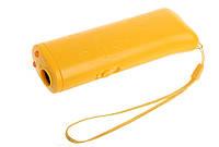 Ультразвуковой отпугиватель собак c фонариком и функцией тренировки VJTech AD-100 желтый (3_5701)