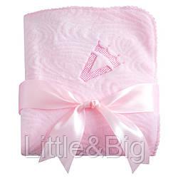 """Плед детский """"Нежность"""" розовый. Махра 90*110 см."""
