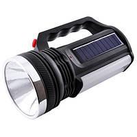 Фонарик аккумуляторный с солнечной панелью Yajia YJ2836T (3_1063), фото 1
