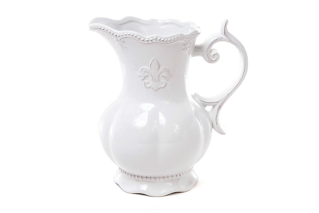 Кувшин керамический Королевская лилия 1.55л, цвет белый (545-143)