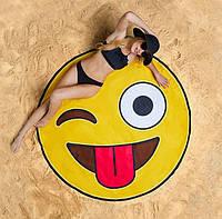 3D Пляжный коврик покрывало подстилка Смайлик (3_7745)