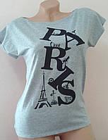 "Женская футболка ""Делайн"": большие размеры серый, 50-52"