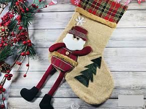 Новогодний Рождественский Сапожок с ножками цвета разные (только по 6 штук), фото 2