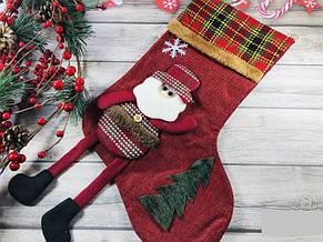 Новогодний Рождественский Сапожок с ножками цвета разные (только по 6 штук), фото 3