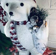 Новогодний Мишка с мешком 45см, фото 3