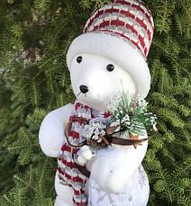 Новогодний Мишка с мешком 45см, фото 2