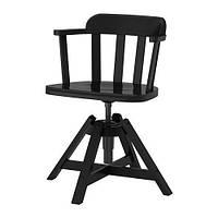 """IKEA """"ФЕОДОР"""" Вращающееся легкое кресло, черный"""