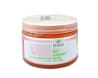LA PALM Сахарно-масляный скраб / увлажн. и гладкость / Mid Summer Rose - Летняя роза 355 мл