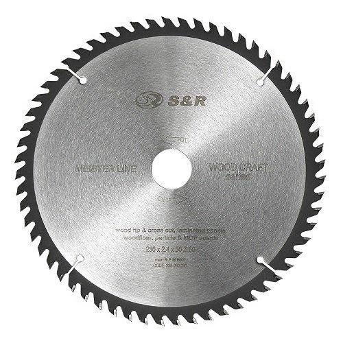 Диск пильный S&R Meister Wood Craft 230х30х2,4 мм