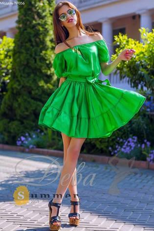 Платье с открытыми плечами  и пышной юбкой , фото 2