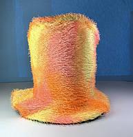 Цилиндр шляпа мягкий желтый в пятнах