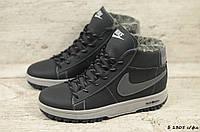 Мужские кожаные зимние кроссовки Nike (Реплика) (Код: Б 1305 с/фл  ) ►Размеры [40,41,42,43,44,45], фото 1