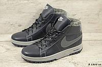 Мужские кожаные зимние кроссовки Nike (Реплика) (Код: Б 1305 сл  ) ►Размеры [40,41,42,43,44,45], фото 1