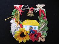 Подкова с колокольчиком для дома, 17х18 см, 45\40 (цена за 1 шт. + 5 гр.)