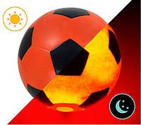 Мяч футбольный Jymindge с LED подсветкой 5 размер Orange-Black (3_7789)