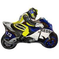 FM Мини-фигура Мотоциклист голубой 23см X 30см
