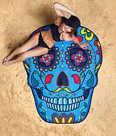 3D Пляжный коврик покрывало подстилка Череп (3_5587)