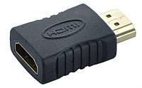 HDMI M (male) to HDMI F (female) соединитель переходник адаптер прямой (для соединения / удлинения HDMI (3_4683), фото 1