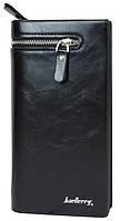 Мужской кошелек клатч портмоне Baellerry Italia S618 черный (3_2326), фото 1