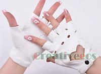 Перчатки для водителей женские белые