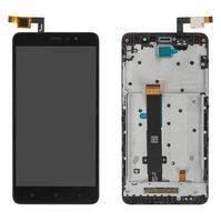 Дисплей для Xiaomi Redmi Note 3 Pro, черный, с сенсорным экраном, с рамкой, без подсветки навигационной клавиатуры